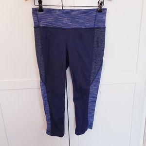 Athleta medium blue capri legging workout